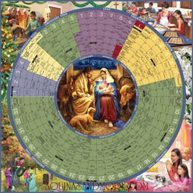 year of grace liturgical calendar 2013 poster laminated 93222lg