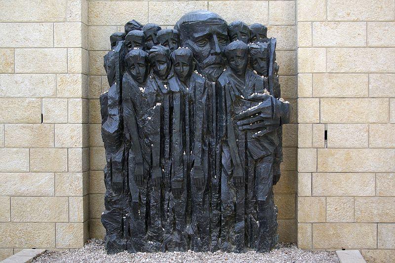 """Janusz Korczak and the Children"" at Yad Vashem Holocaust museum in Israel"