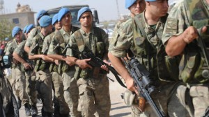 Turkish soldiers mobilized near the Syrian border, October, 2012