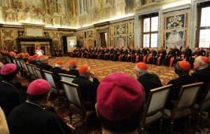 Pope Benedict XVI Receives The Roman Curia For The Christmas Greetings