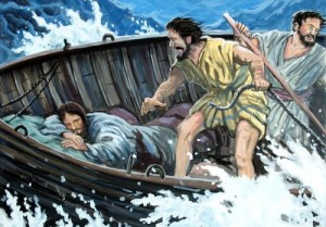 Jesus-sleeping-in-boat-at-peace-in-storm-500x348