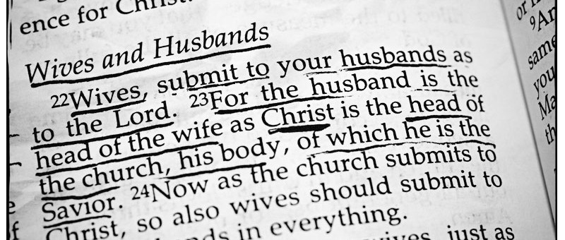 Ephesians 5 and Domestic Violence: Words of Eternal Life?